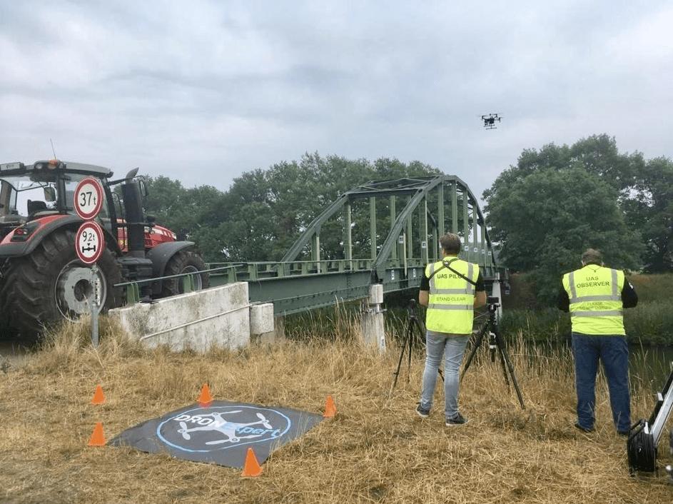 Proeftuin met Twentse dronetechnologie voor de inspectie van bruggen en viaducten